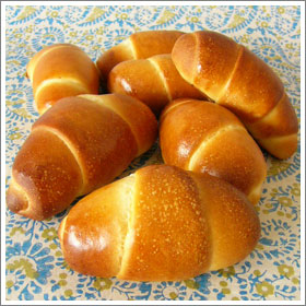 北海道産小麦のバターロールのレシピ
